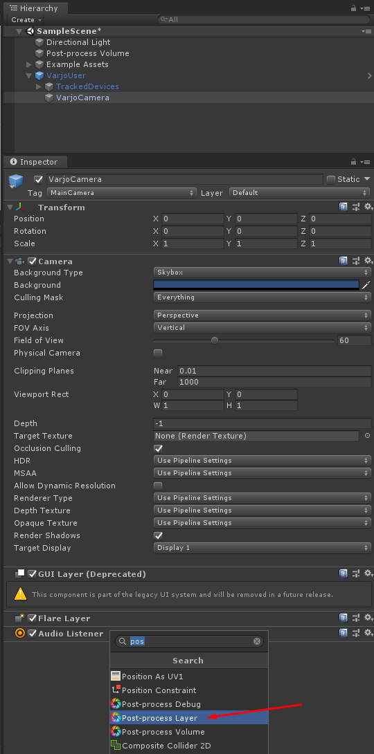 Creating a Unity project using LWRP – Varjo com